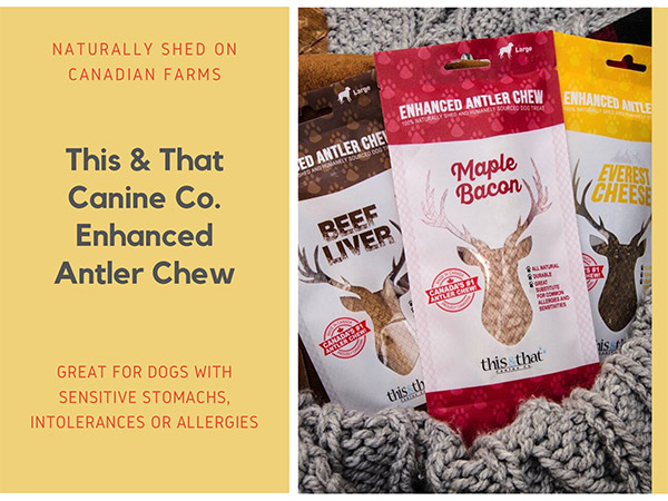 This & That Canine Co. Enhanced Antler Chew